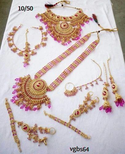 Pink Bridal Wedding Necklace Set Rs 1750 Piece Tanisha