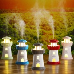 Lighthouse Shaped Cool Mist LED Desktop Nightlight Humidifier