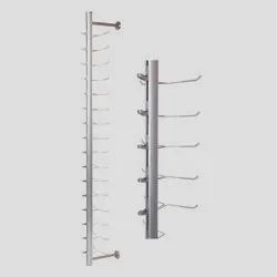 Eyeglass Aluminium Non Lockable Showroom Display Rod Fixture