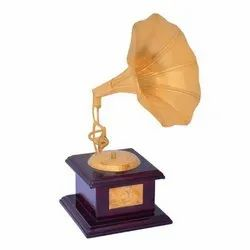 Brass Gold Plated Home Decorative Gramophone