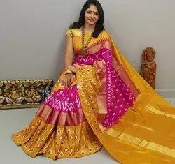 Patola Pochampally Ikkat Pure Silk Sarees