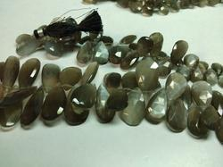 12x6 MM Size, AAA Black Moonstone Loose Beads Gemstone 10 Piece Natural Fire Black Moonstone Faceted Marquise Briolette Side Drilled
