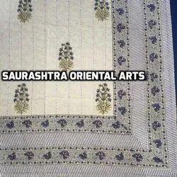 Flower Design Block Print Kantha Quilts