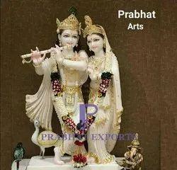 Radha Krishan Marble Murti