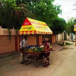 Hut Shape Vendor Flex Banner, For Advertising