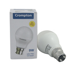9 Watt Warm White Crompton LED Bulb, Base Type: B22, Type of Lighting Application: Outdoor Lighting