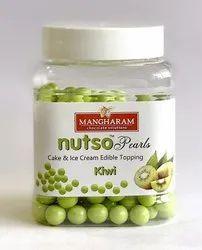 Mangharam Nutso Pearls Cake Ice Cream Toppings Kiwi - 100g Jar