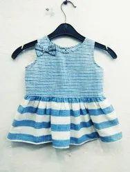 Cotton Blue Kids Casual Top