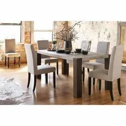 Table,6 Chair Modern Wooden Dining Table, For Restaurant