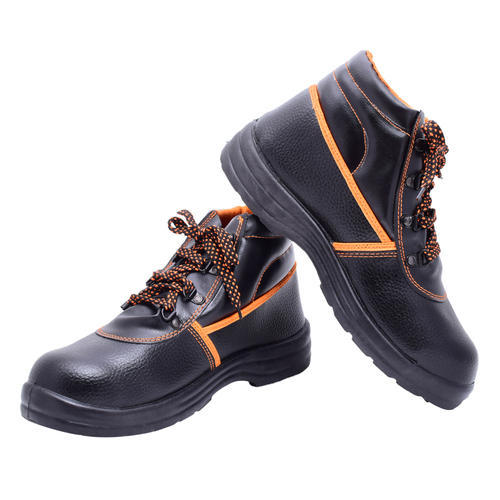 0a53c0012eab Black - Orange Polo Indcare Aero Safety Shoes High Ankle