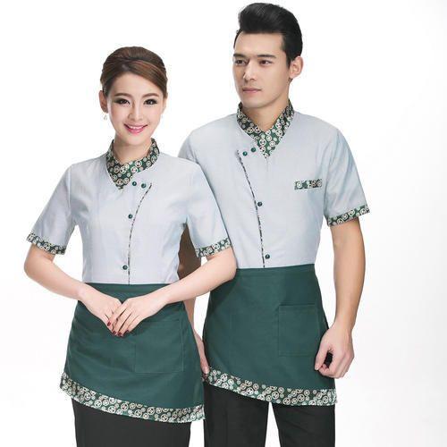 White cotton spa uniform rs 900 per set 3 piece for Spa uniform white
