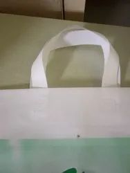 White Non Woven Loop Handle Bag, for Shopping