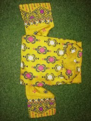 Yellow Cotton Ladies Kurti Gown
