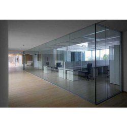 Rectangular Plain Transparent Office Glass Partition