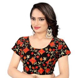 Cashbazzar Ladies Banglori Satin Embroidered Blouse, Back