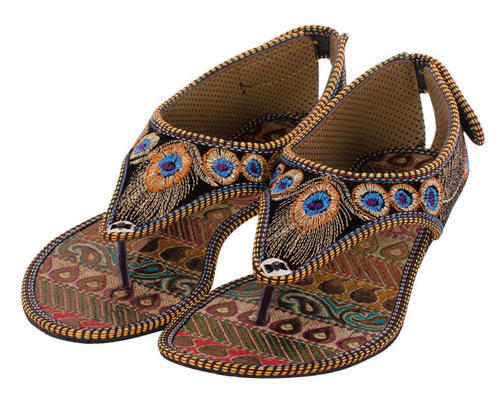 6e25afbaa Ladies Canvas Casual Rajasthani Slipper
