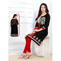 Ladies Cotton 3/4th Sleeve Printed Kurti