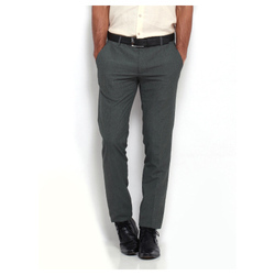 Grey Cotton/linen Men's Casual Pant