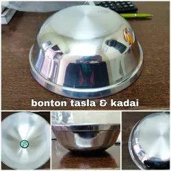 krishna Mirror Polished Aluminium Bonton Kadai and Tasla, For Kitchen