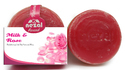 Round Milk and Rose Handmade Soap