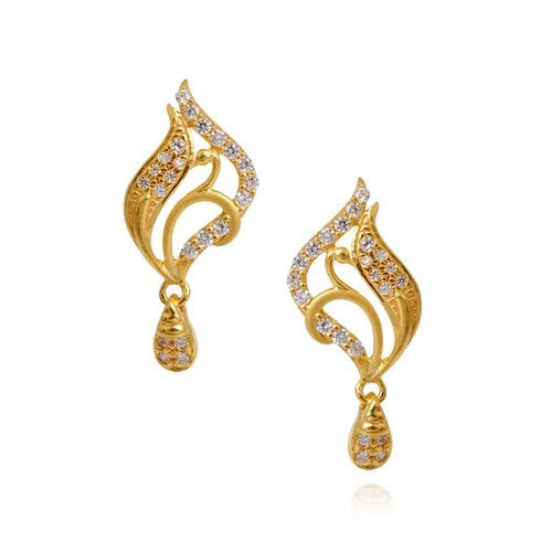 hoop cz design swiss small plated diamond for from product quality engagement rose beautiful jewelry top gold earrings new women