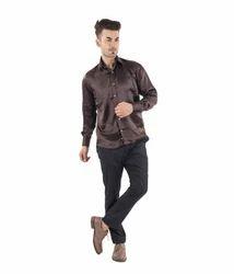 Scot Wilson Men's Printed Silk Shirt