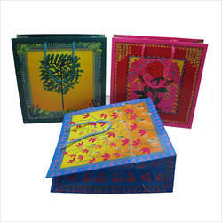Multicolor Box Coloured Paper Gift Bags, For Shopping