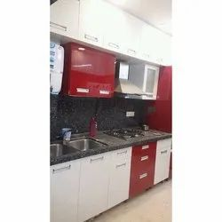 Red Stylish Modular Kitchen