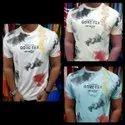 Heavy Lycra Printed Mens Casual T Shirt