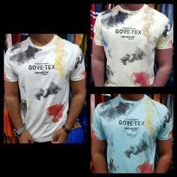 heavy lycra Printed Mens Casual T shirt