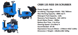CRBR 135 Ride On Scrubber