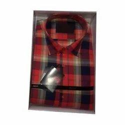 Biasons Cotton Mens Casual Check Shirt