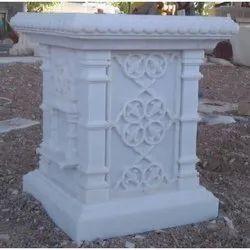 Marble Tulsi Pot