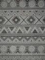 Black And White Viscose Tufted V-111