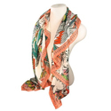 Printed Silk Square Scarves