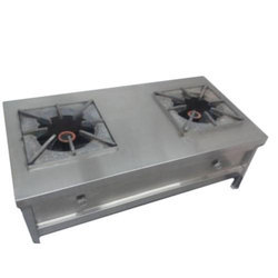 A One SS two stove commercial burner, Size: 48 x24 x 20 mm