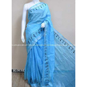 Linen Blue Saree