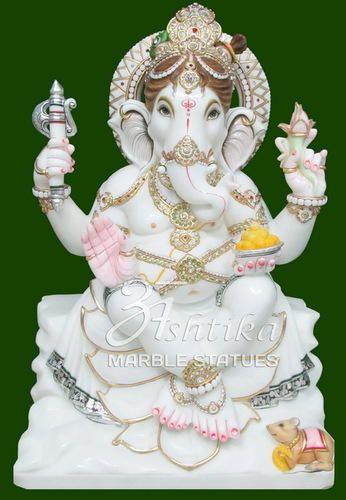 Jaipur White Marble Ganesh Idol Rs 21000 Piece Ashtika Marble