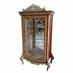 6.2 Feet Wooden Glass Showcase