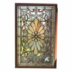 Modern Stained Glass Window, Thickness: 5-12 Mm