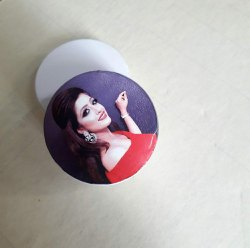 Plastic Mount Type Sublimation Pop Socket, For Mobile Accessory, Size: Small