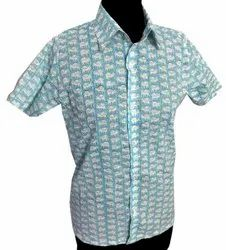 100% Cotton Hand Block Printed Shirt