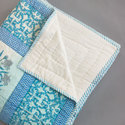Pastel Blue Hand Block Quilt