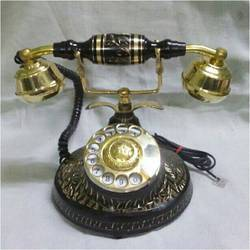Antique  Style Brass Phone