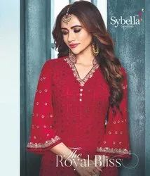 Sybella Series 801-808 Stylish Party Wear Georgette Suit