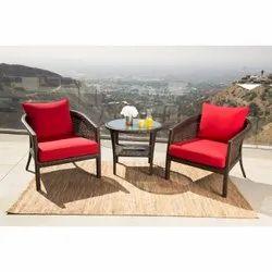Outdoor Wicker 3 Piece Patio Chair Set