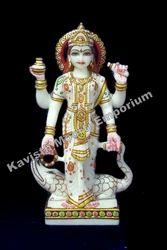 White Marble Ganga Mata Statue