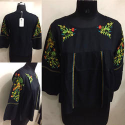 Ladies Embroidery Rayon Top