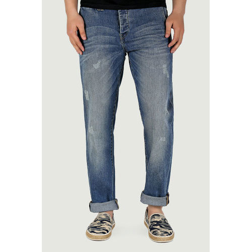 Faded Comfort Fit Mens Denim Jean