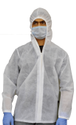Unisex White Non Woven Hooded Jacket